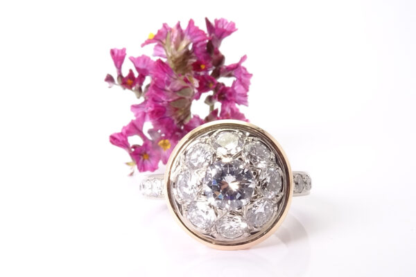 14 omarbetad diamantring av kundens guld