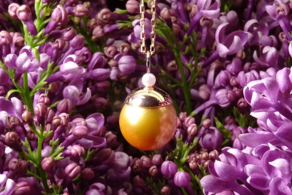 Pärlhänge med indonesisk guldpärla