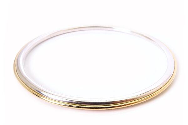 Stelt guldarmband med silver