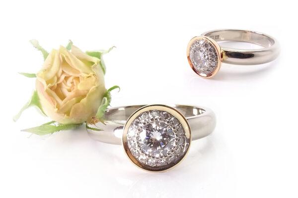 Vigselring paveinfattade diamanter 1